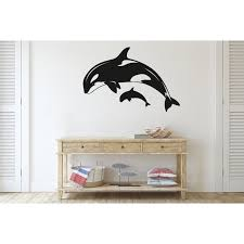 Highland Dunes Orca Killer Whale Vinyl Wall Decal Wayfair
