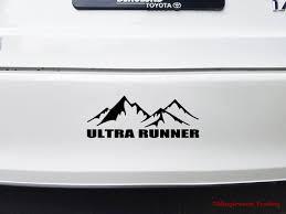 Ultra Runner Vinyl Decal Sticker Running 50k 50m 100k 100m Etsy