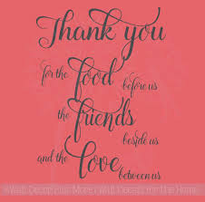 Thank You For The Food Friends Love Kitchen Sayings Wall Decal Stickers