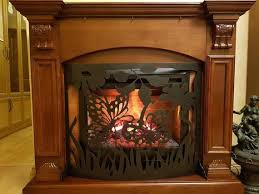 hand made fireplace grate erfly