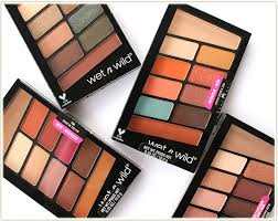 new wet n wild 10 pan palettes review