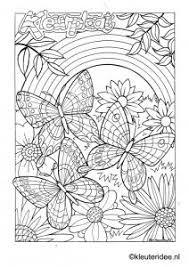 Kleurplaat Vlinder 3 Butterfly Preschool Coloring Kleurplaten