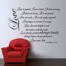 Family Inspired Wall Decal Love Is Patient Quote Bible Verse Vinyl Bedroom Decor Ebay