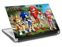 Sonic Tails Knuckles Personalized Laptop Skin Vinyl Decal Sticker With Name L108 Ebay