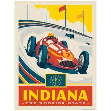 Indiana Hoosier State Indianapolis Speedway Vinyl Sticker At Retro Planet