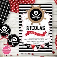 Kit Imprimible Personalizado Pirata Calavera