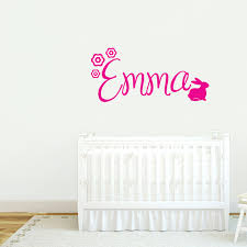Custom Name With Bunny Wall Decals Wall Decor Stickers