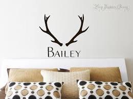 Antler Wall Decal With Name