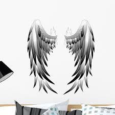 Angel Wings Angel Wings Wall Decal By Wallmonkeys Peel And Stick Graphic 24 In H X 21 In W Wm137087 Walmart Com Walmart Com