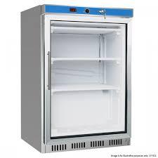 display freezer with glass door