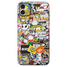 Sticker Bomb Skin For Iphone 11
