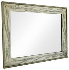 rustic mirror denali antique white