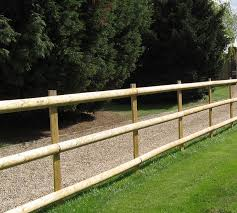 Post And Rail Machined Stake And Half Round Rails Hartwells Fencing