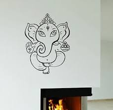 Ganesha Wall Vinyl Sticker Decor Decal God Hindu India Elephant Ig3088 Ebay