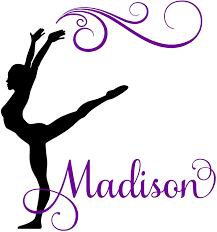 Amazon Com Gymnast Gymnastics Dance Personalized Custom Girl Name Vinyl Wall Decal Sticker Room Decor B Large 31 X 28 Inches Home Kitchen