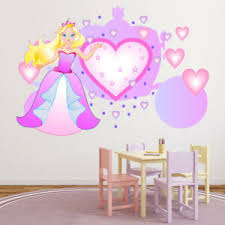 Pink Princess Love Heart Carriage Wall Decal Sticker Ws 46751 Ebay