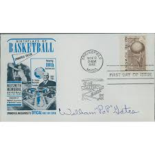 William Pop Gates Signed First Day of Issue JSA Authenticated