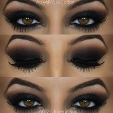black smokey eye for brown eyes