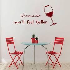 Shop Glass Of Wine Cafe Kitchen Decor Vinyl Sticker Home Decor Kids Art Wall Decor Sticker Decal Size 22x35 Color Burgundy Overstock 14441436