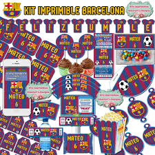 Kit Imprimible Barcelona Barca Editable Candy Bar Candy