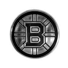 Boston Bruins Logo 3d Chrome Auto Decal Sticker New Truck Or Car Rico Hub City Sports