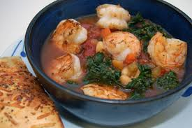 White Bean and Kale Soup with Shrimp ...