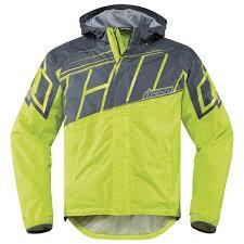 icon motorcycle gear man rain cold