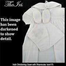 irish christening gown celtic cross