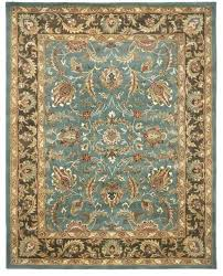 handmade herie blue brown wool rug