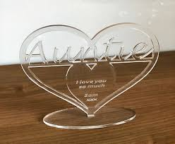 Auntie Child Personalised Heart Wall Hanging Gift Plaque P350 Home Garden Home Decor Plaques Signs