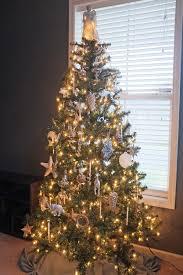 mercury glass and white tree