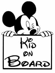 New Mickey Mouse Kid On Board Decal Vinyl Car Sticker 13 Colors 4 Sizes Ebay