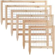 Amazon Com Growneer 6 Packs Total Wooden Garden Fence Critter Guard Cedar Garden Fence Decorative Outdoor Fence 68 X 23 6 Inches 36 X 23 6 Inches 21 5 X 23 6 Inches 2 Pcs Of Each Size Garden Outdoor