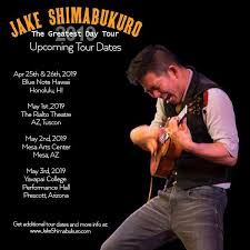 "The Greatest Day"" tour is about to... - Jake Shimabukuro 