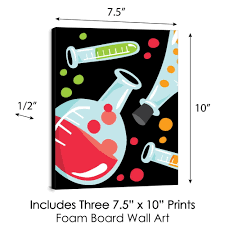 Scientist Lab Baby Boy Nursery Wall Art And Mad Science Kids Room Decor 7 5 X 10 Inches Set Of 3 Prints Bigdotofhappiness Com