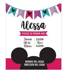 Invitacion Cumpleanos Mickey Nina Invitaciones De Cumpleanos