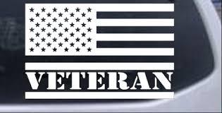 Us American Usa United States Flag Veteran Car Or Truck Window Decal Sticker Rad Dezigns