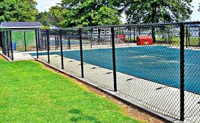 Black Chain Link Pool Fence Campanella Fence