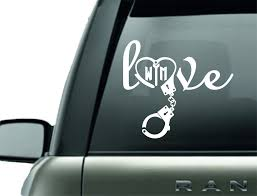 Car Window Decals Barbells And Handcuffs