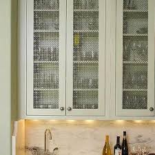 kitchen cabinets with wire mesh grille