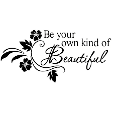 2020 15 7 2cm Be Your Own Kind Of Beautiful Quote With Flower Design Car Accessories Motorcycle Helmet Car Styling From Xymy777 1 81 Dhgate Com