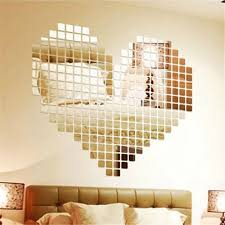 100pcs 2x2cm Bling Bling Acrylic 3d Mural Wall Sticker Mosaic Mirror Effect Home Decor Diy Home Decor Decor Diywall Sticker Aliexpress