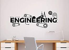 Engineering Wall Decal Sticker Motivational Office Science Education Art Decor 128nr Amazon Com