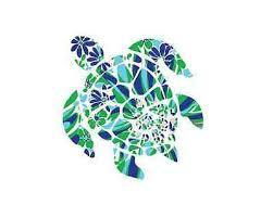 Sea Turtle Blue Green Decal Sticker For Car Window Truck Ebay