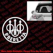 Beretta Firearms Gun Rights 3 Pistol Rifle Car Window Phone Vinyl Decal Fa029
