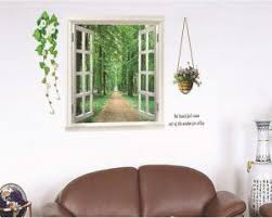 Beautiful Natural Scenery 3d Window Landscape Wall Sticker Self Adhesive Wallpaper Fake Window Wall Stickers Wall Art Buy Online Wallpaper Decals At Best Prices In Egypt Souq Com