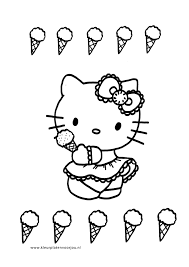 Kleurplaten Kleurplaat Hello Kitty Prinses