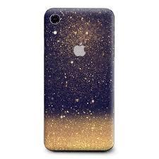 Skin Decal Vinyl Wrap For Apple Iphone Xr Gold Dust Lens Flare Glitter Itsaskin Com