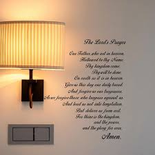 The Lord S Prayer Bible Wall Decal Our Father Vinyl Wall Art Scripture Quote Faith Home Christian Decor Stickers Wall Stickers Aliexpress