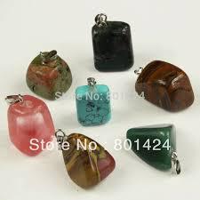 20pcs 74 861 nature stone pendant